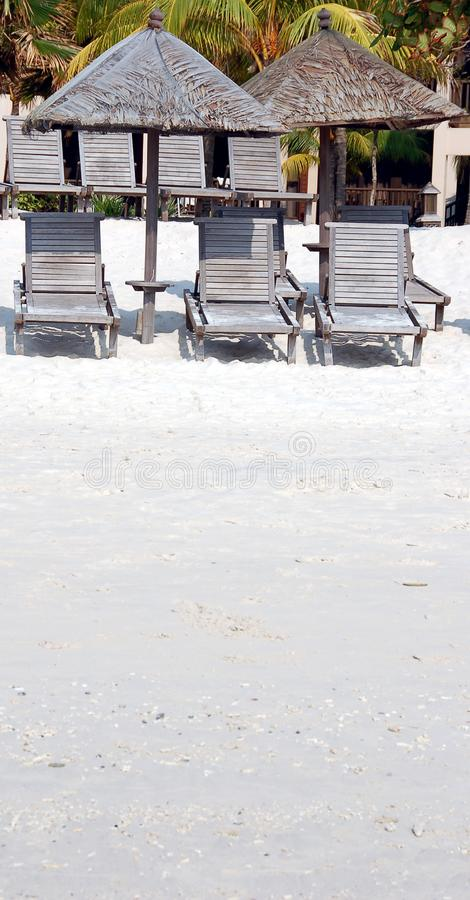 Download Shade On Beach stock image. Image of relax, island, chairs - 817097