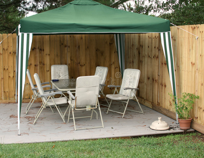 Download Shade Cover stock image. Image of deck, table, cover, white - 5167047
