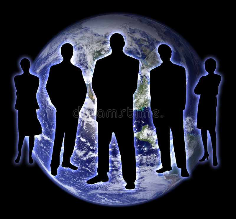 Shade people earth 2 stock illustration