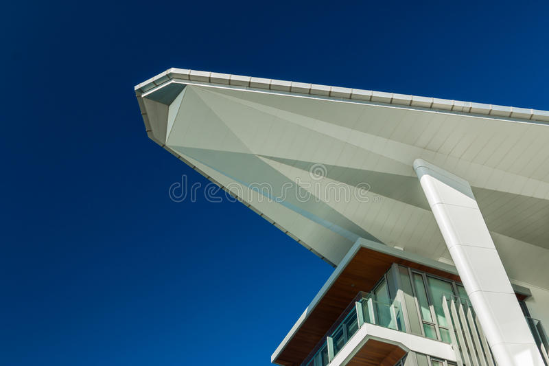 Shade Roof. Modern shade roof with a point to it stock images
