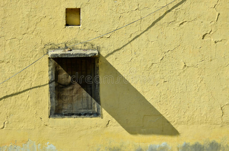 The shade of the window