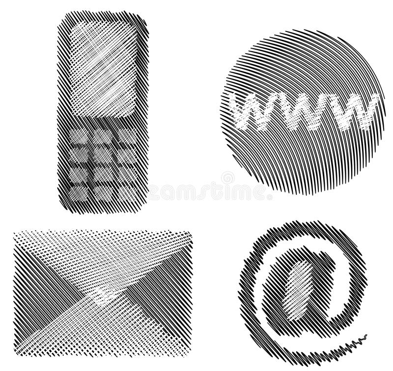 Download Shaded contact icons stock vector. Image of shaded, outline - 18190026