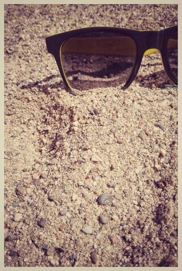 Shaded. Shady outdoor sunglasses royalty free stock image