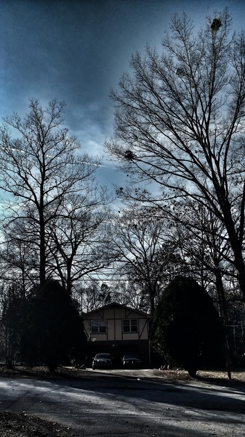 Shaded Skies. Dark And Gloomy stock photos