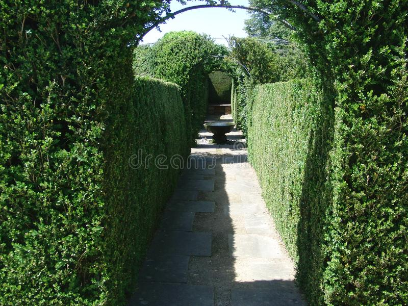 Shaded Summer Garden. Ornamental Arched Garden royalty free stock photos