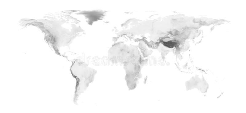 Shaded world map vector illustration