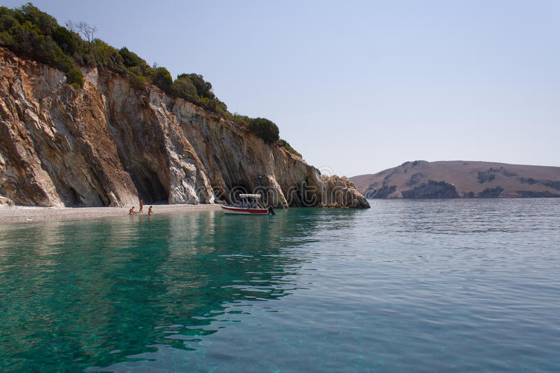 Download Shades of blue stock image. Image of greece, swim, ship - 24982315