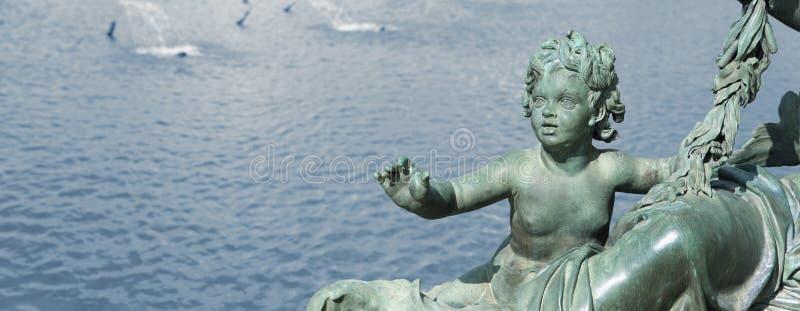 Versailles castle bronze statue royalty free stock images