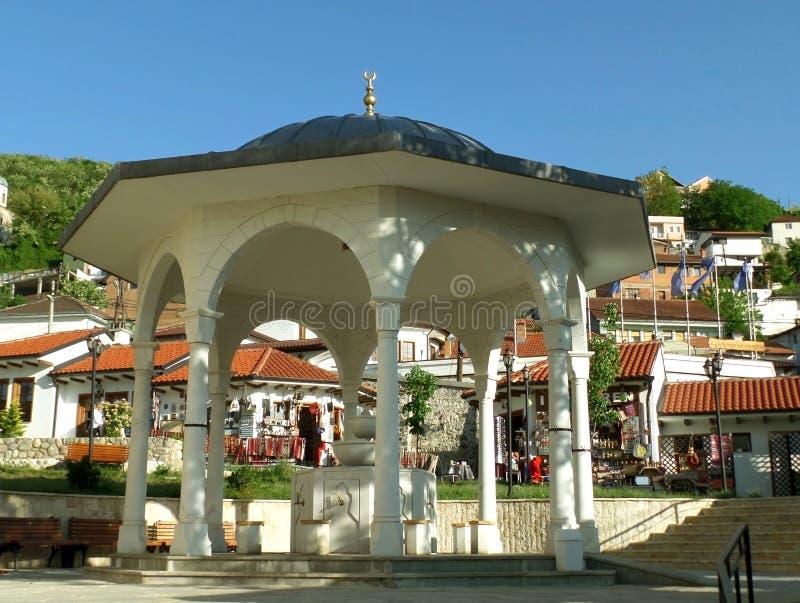 The ShadirvanFountain at the Yard of Sinan Pasha Mosque, Prizren, Kosovo. UNESCO World Heritage royalty free stock images