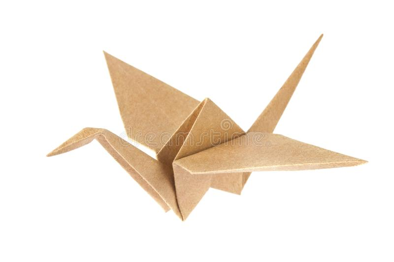 Shadoof origami of crafting paper. stock photography