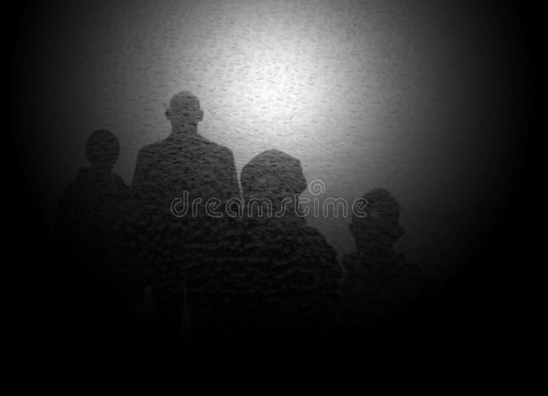Shadow. A black shadow in a glass