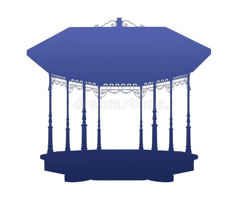Shadow of the bandstand vector illustration
