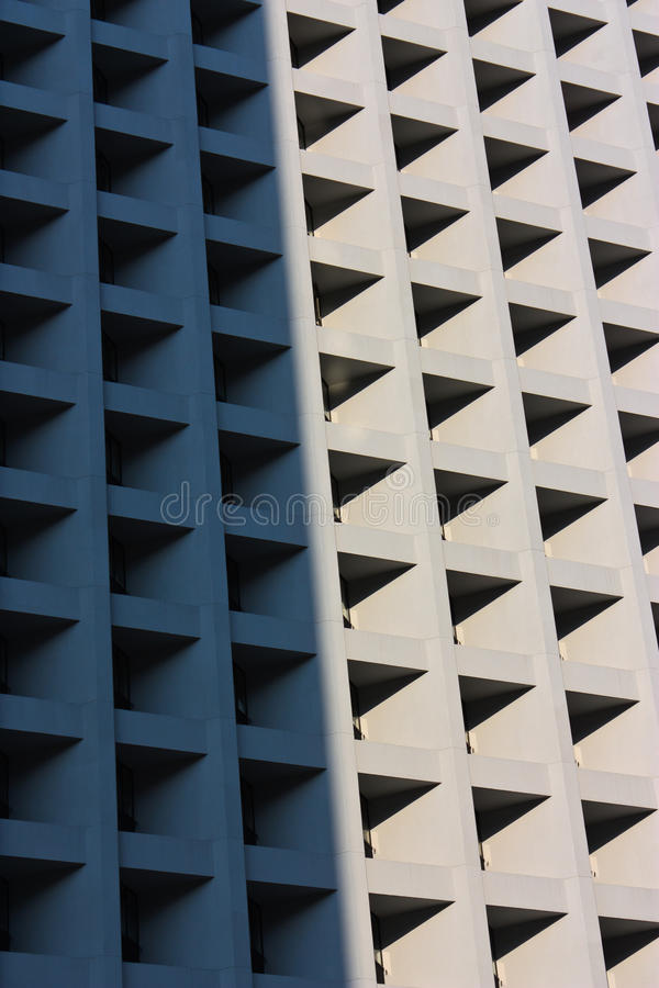 Shadow and Bright Area of Building stock photos