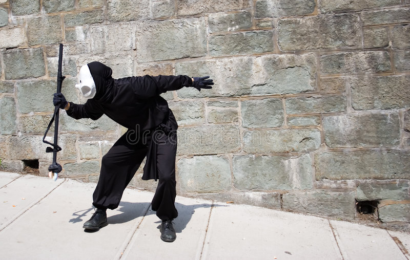 Shadow captor in Quebec city stock photography