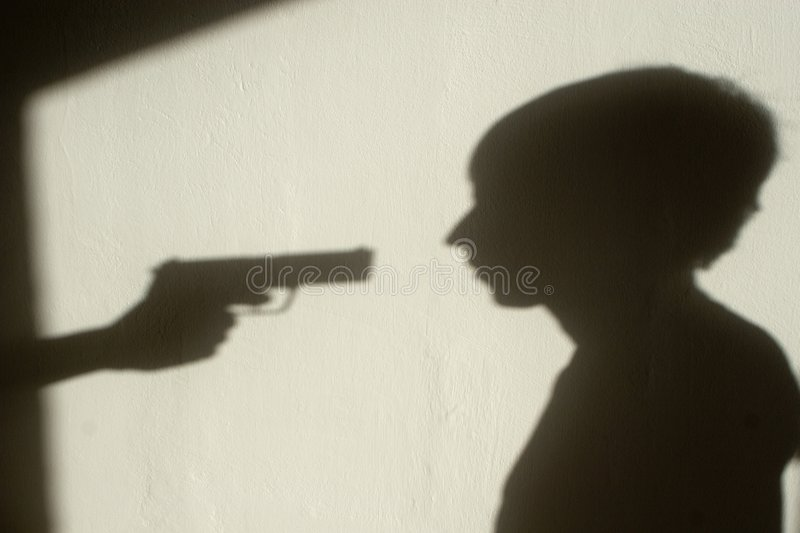 Download Shadow of crime stock photo. Image of crime, weapon, gangsterism - 8226754