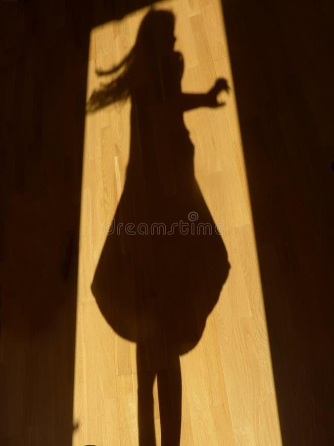Shadow dancing royalty free stock photo