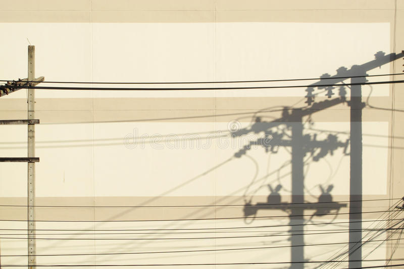 Download Shadow of electric post stock photo. Image of pattern - 26826970