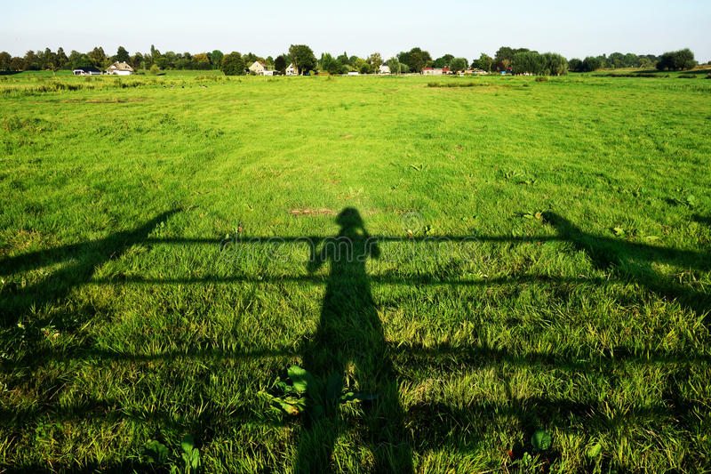 Shadow Of Farmer Inspecting Crop Free Public Domain Cc0 Image