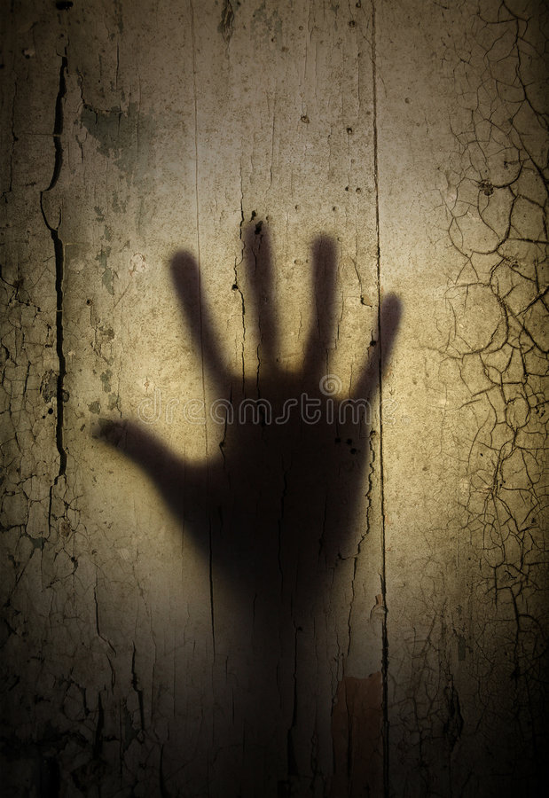 Shadow of horror hand royalty free stock photography