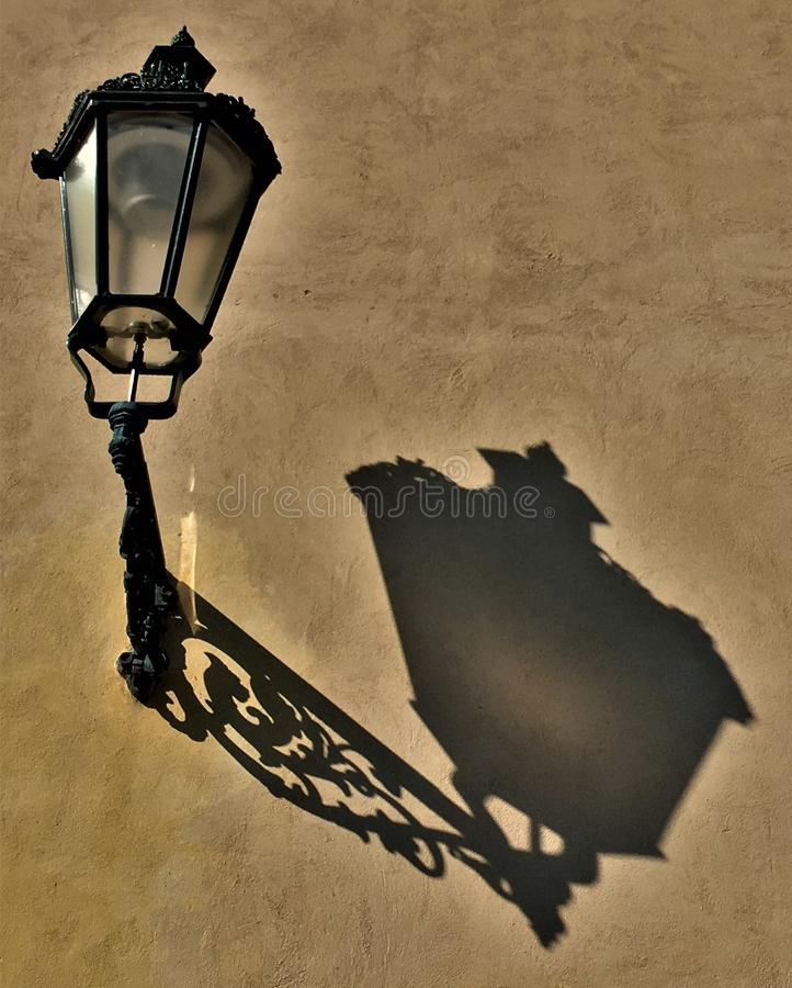 The shadow of the lamp royalty free stock photography