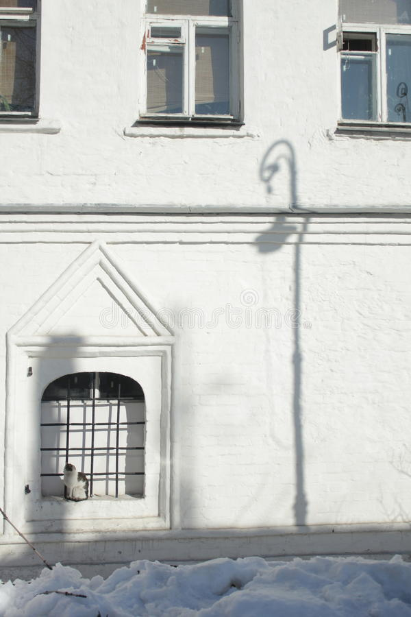 Shadow of lantern stock photo