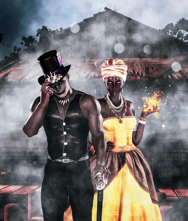 Free Shadow Man And Voodoo Queen Stock Photos - 158558403