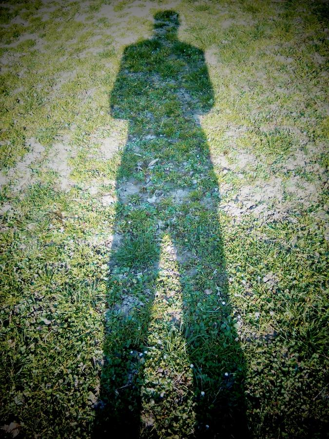 Shadow man stock photography