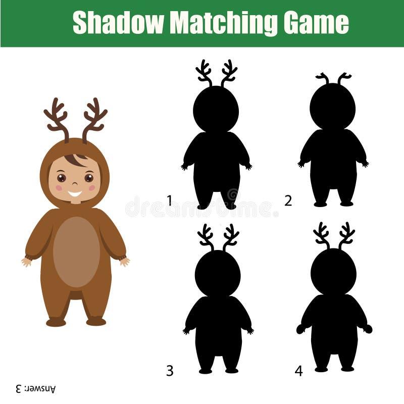 Shadow Matching Game. Christmas Theme, Kids Activity, Worksheet ...