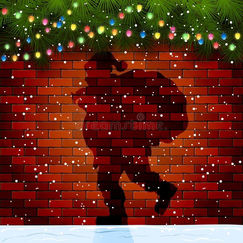 Free Shadow Of Santa On A Brick Wall Royalty Free Stock Image - 62921666