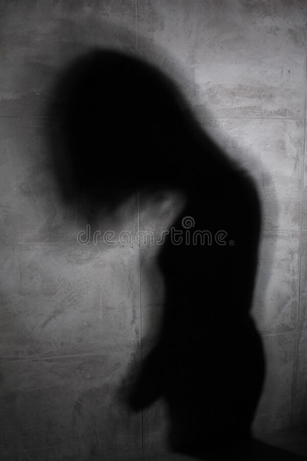 Free Shadow Of The Girl On The Wall Royalty Free Stock Photos - 169701718