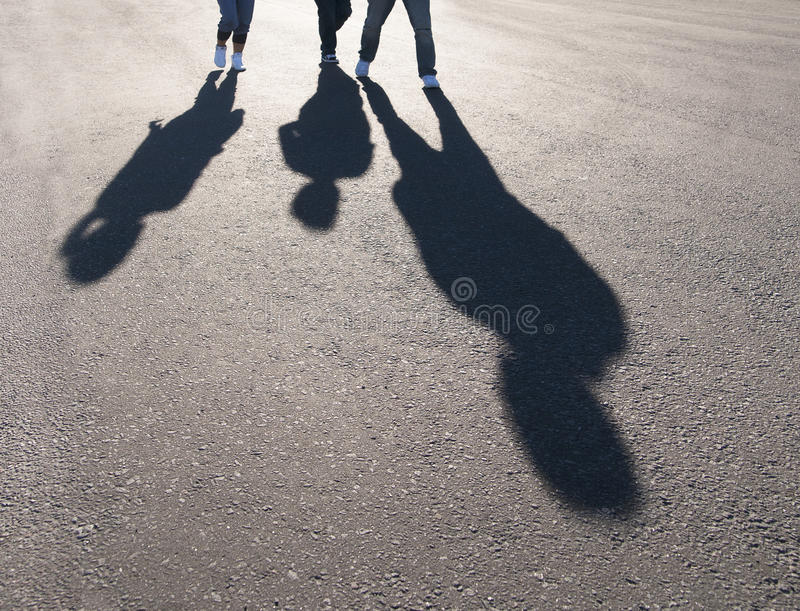 Download Shadow of people stock image. Image of sunlight, back - 25383615