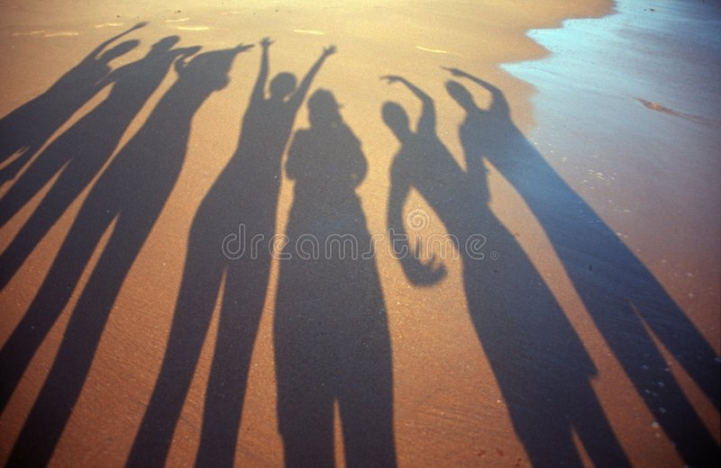 Shadow people royalty free stock photo