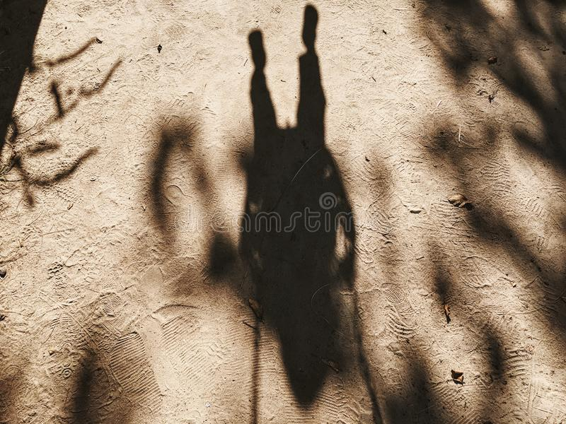 Shadow Of Person In Sand Free Public Domain Cc0 Image
