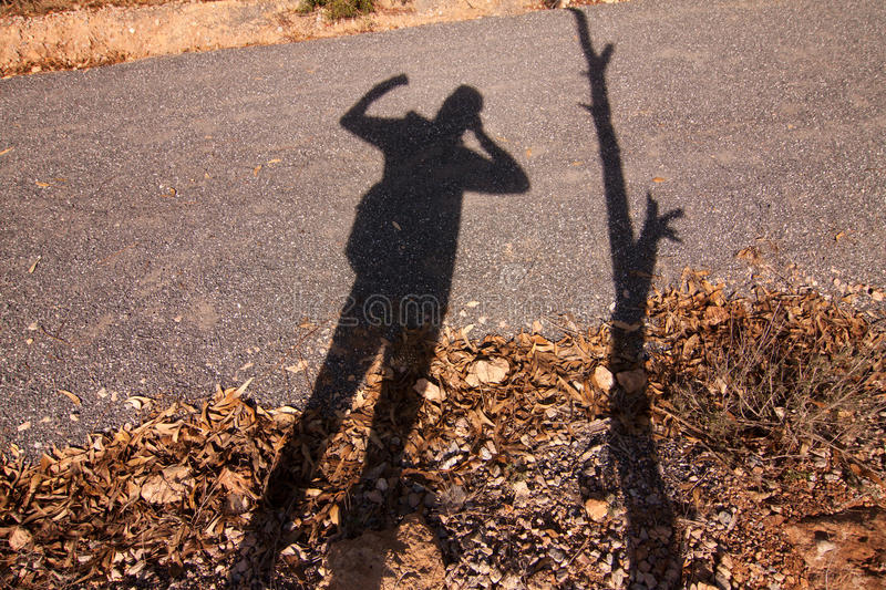 Shadow power royalty free stock image