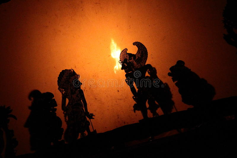 Shadow Puppets In Bali Stock Photo