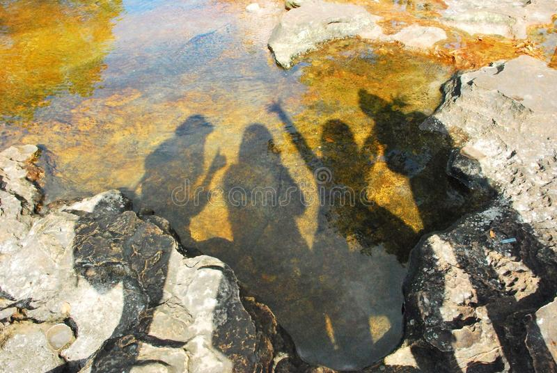 Shadow reflection stock photography
