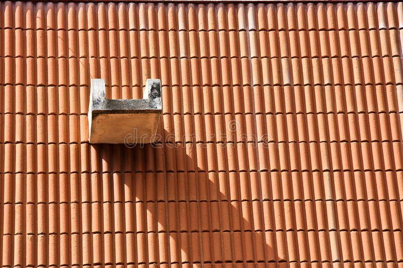 The shadow on a roof