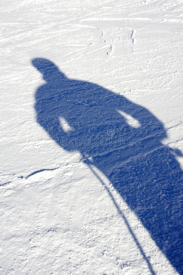 Download Shadow on the snow stock photo. Image of shadow, abstract - 12981646