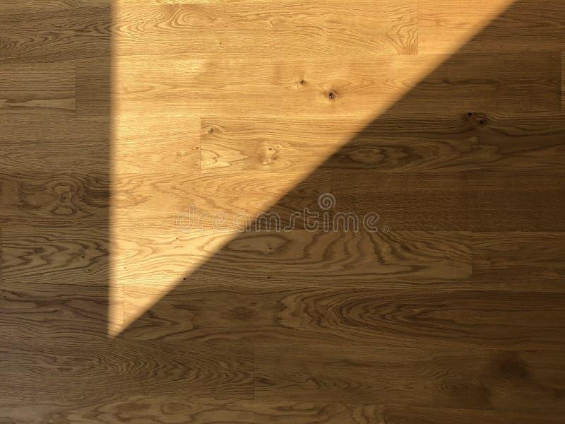 Shadow of the sunlight on parquet floor. Shadow of the sunlight of the window on wooden parquet floor. Warm interior stock photos