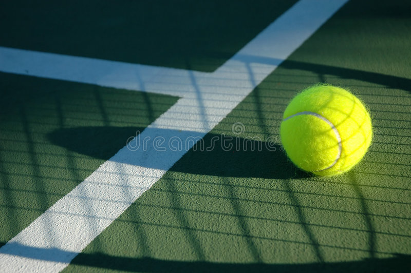 Shadow Tennis royalty free stock photography