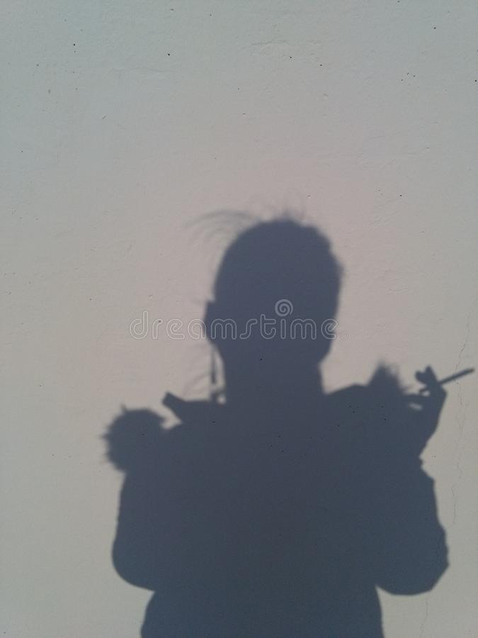 The shadow royalty free stock photography