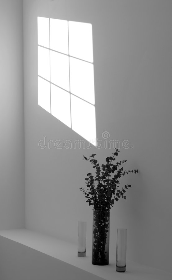Shadow of a window on a wall royalty free stock photography