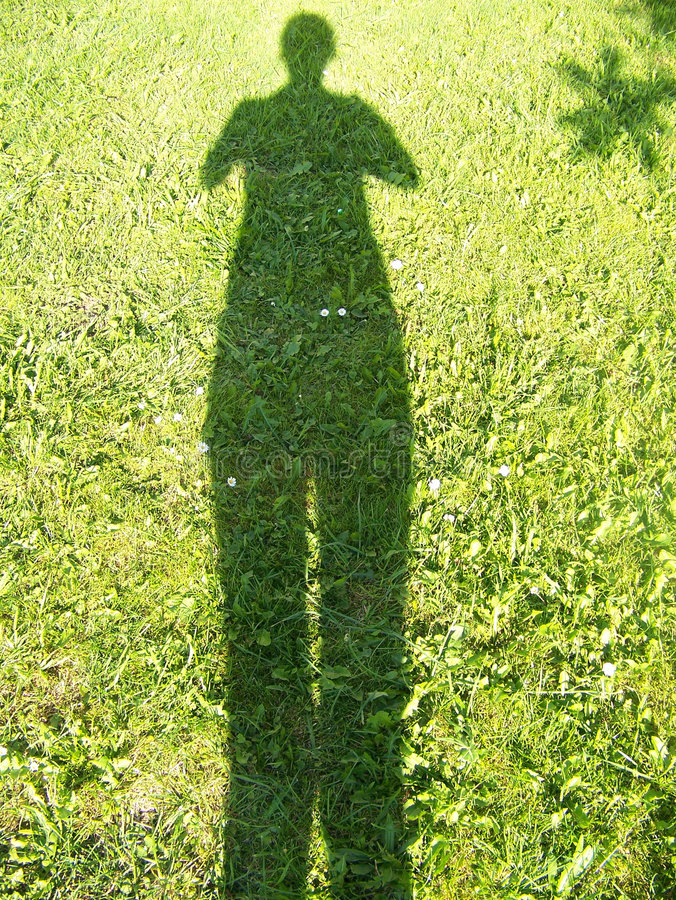 Shadow of woman stock photo