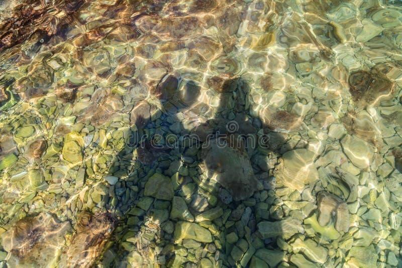 Shadow of young couple stock photos
