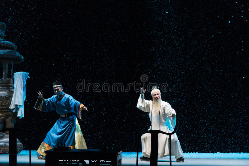 "Shadowboxing-Shanxi Operatic""Fu Shan to Beijing"". Fu Shan Beijing reflects the Fu Shan in Beijing, to be a true story of the words learned macro stock images"