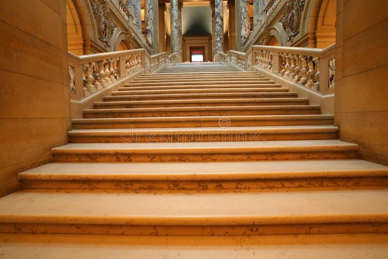 Shadowed marble stairway stock photos