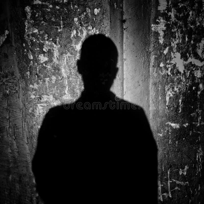 Shadowfall människan royaltyfri foto