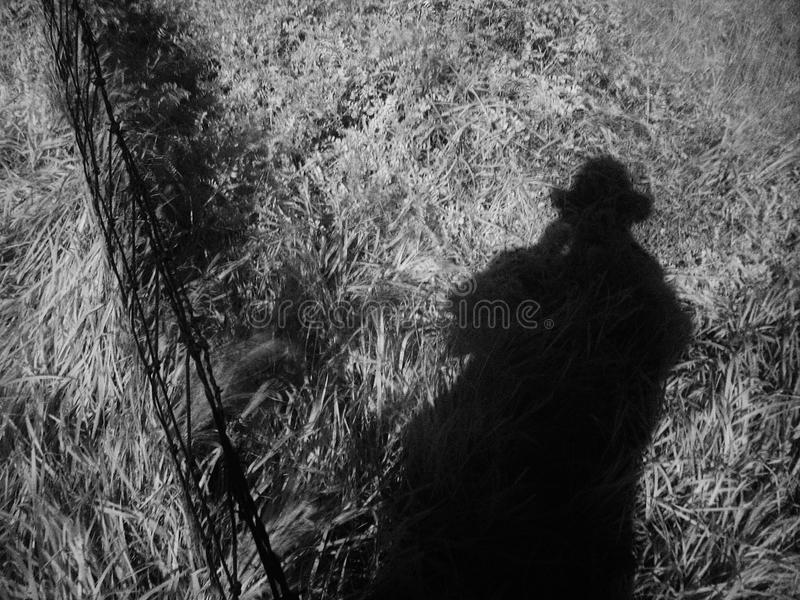 Shadowman fotografia stock
