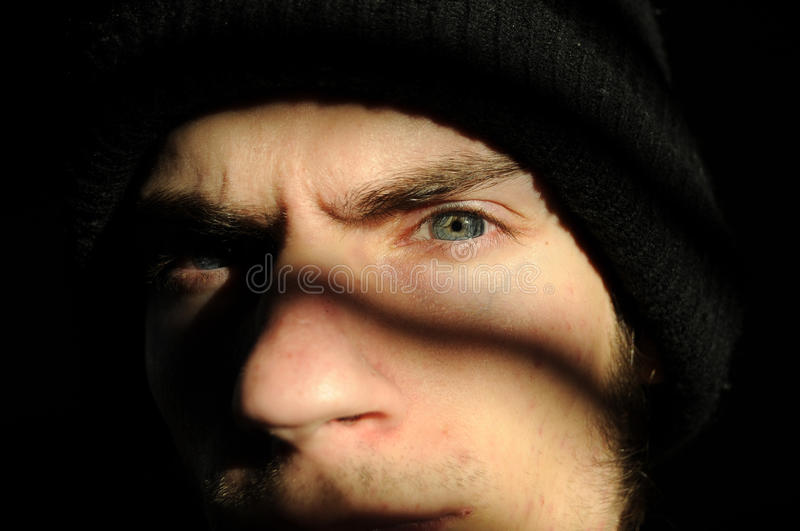 Download In the shadows stock image. Image of angry, outlaw, bandit - 17463591