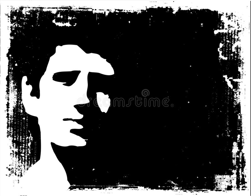 In the shadows stock illustration